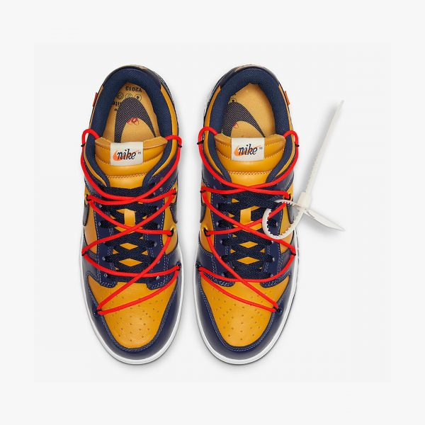 Nike x Off-White Dunk Low | University Gold Midnight Navy