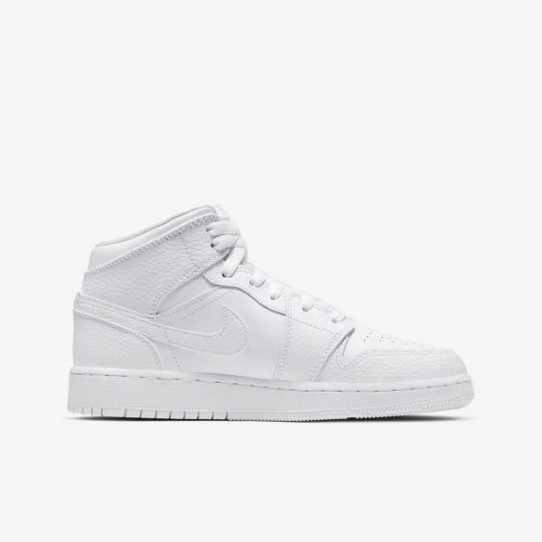 Nike Air Jordan 1 Mid GS | Triple White