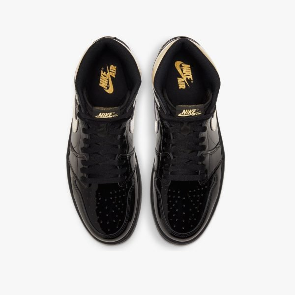 Nike Air Jordan 1 Retro High | Patent Black Gold